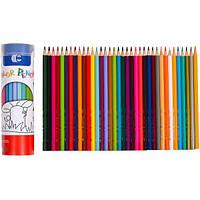 Набор цветных карандашей 36 цветов в тубусе  9801-36