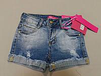 Джинсовые шорты стрейч для девочки 25, 26, 27, 28, 29, 30 размеры