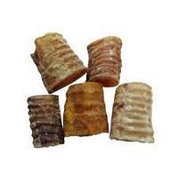 Лакомство натуральное сушеное Трахея резаная говяжья для собак 1 кг