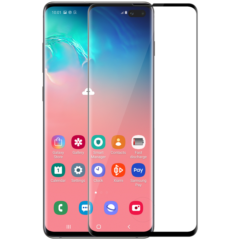Nillkin Samsung G975F Galaxy S10+ 3D CP+MAX Anti-Explosion Glass Screen Protector Black Защитное Стекло