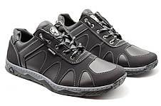 Кросівки чоловічі демісезонні стильні, чорні, фото 3