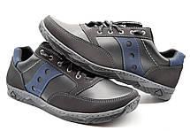 Кросівки чоловічі демісезонні стильні, чорні з синім, фото 3