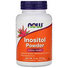 """Инозитол NOW Foods """"Inositol Powder"""" поддержка здоровья на клеточном уровне, чистый порошок (113 г)"""