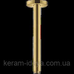 Кронштейн верхнего душа Hansgrohe S 30см 27389990 золото