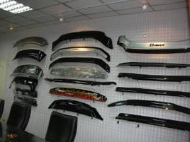 Дефлектор капоту (мухобійка) Hyundai Santa Fe II 2006-2012 (HIC)