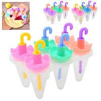 Набор форм для мороженого и фруктового льда пластик Stenson R84711 набор 6шт 19х17.8 см