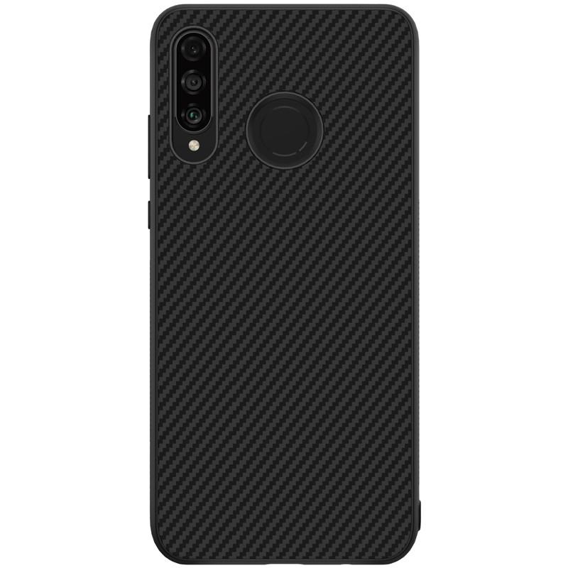 Nillkin Huawei P30 Lite/ Nova 4e Synthetic fiber Black Магнитный Чехол Накладка Бампер