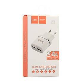 Сетевое Зарядное Устройство Hoco C12 2 USB