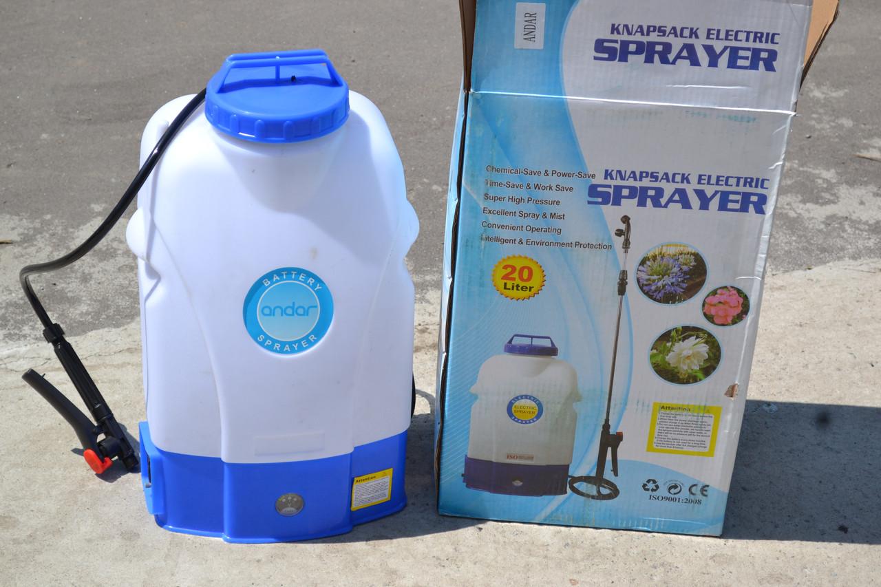 Обприскувач садовий Andar акумуляторний 20 л