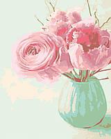 Живопись по номерам Цветы в вазе 0010П1 Bambino 40 х 50 см (без коробки)