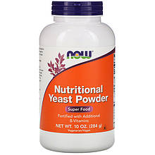 """Пищевые дрожжи в порошке NOW Foods """"Nutritional Yeast Powder"""" (284 г)"""