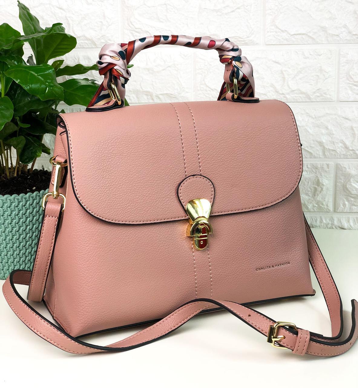 Жіноча сумка на плече Рожева