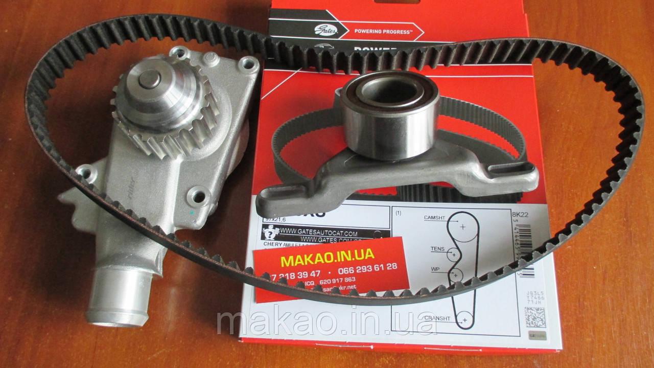 """Комплект ГРМ (ремінь, помпа, ролик) Chevrolet Aveo 1.5. Ремінь вир-во Бельгія """"Gates"""""""