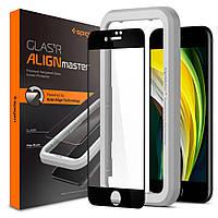 Захисне скло Spigen для iPhone SE 2020/8/7 AlignMaster, Black (1шт) (AGL01302), фото 1