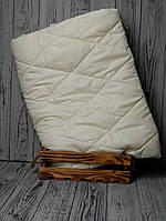 Наматрасник на резинке бежевый 140*200 (микрофибра стеганный)