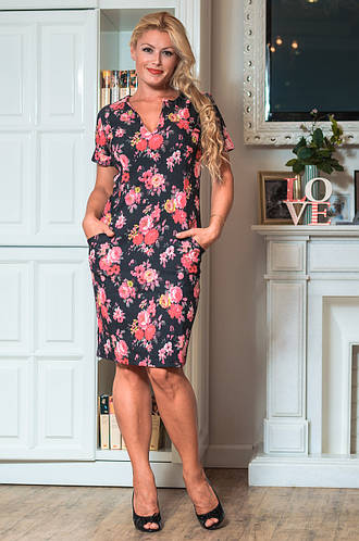 Женское платье (48-54) №1023