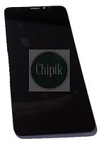 Дисплей для Meizu M8, M813H с сенсорным экраном, черный