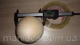 Деревянный шар, 10 см Сосна