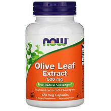 """Экстракт оливковых листьев NOW Foods """"Olive Leaf Extract"""" 500 мг (120 капсул)"""