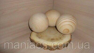 Деревянный шар, 8,5 см Сосна