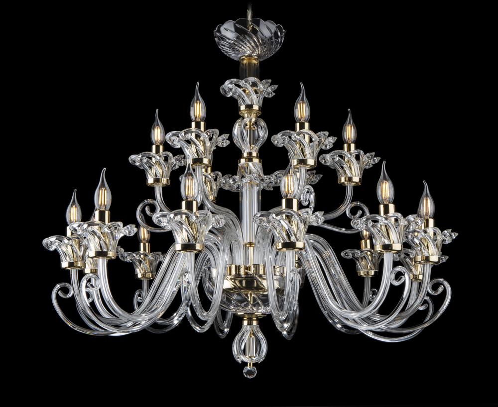 Романтичная хрустальная люстра свеча