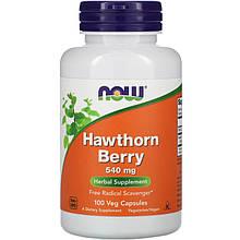"Ягоды боярышника NOW Foods ""Hawthorn Berry"" 540 мг (100 капсул)"