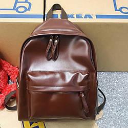 Женский кожаный рюкзак большой цвета Бургунд.
