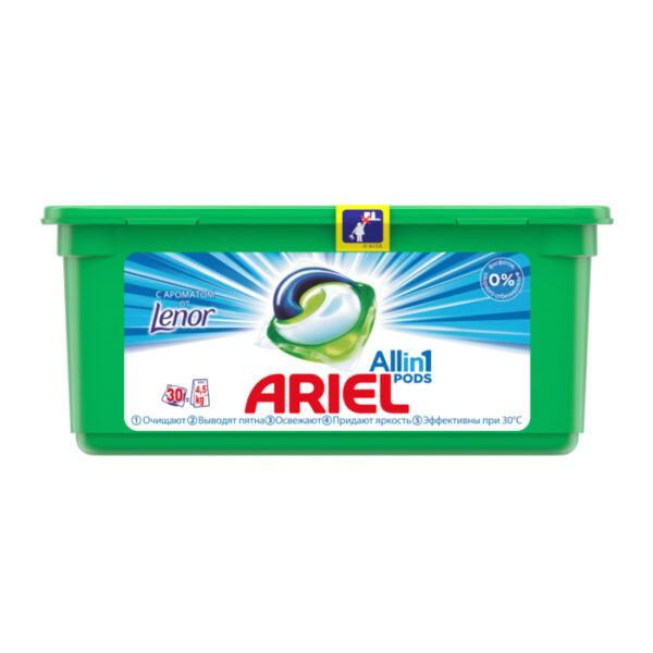 Капсулы для стирки Ariel Pods All in 1 Touch of Lenor Fresh, 30 шт