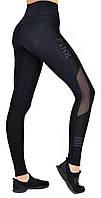 Жіночі фітнес лосини з високою посадкою, одяг для фітнесу модель Pink 1220 чорні, фото 1
