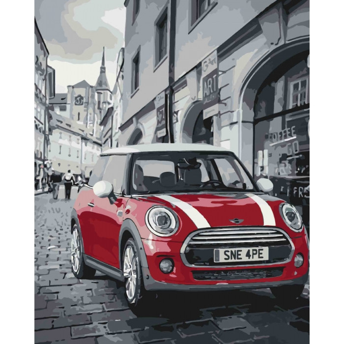 Картина по номерам Mini Cooper ТМ Идейка 40 х 50 см КНО3504