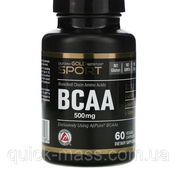 California Gold Nutrition BCAA 500 mg 60caps