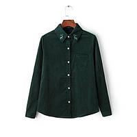 Стильная вельветовая рубашка , 2 цвета