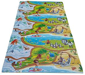 """Дитячий ігровий килимок """"Мадагаскар"""" довжина 1,5 метра (1500х1200х8мм), розвиваючий килимок для дітей"""