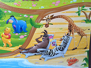 """Розвиваючий дитячий килимок """"Мадагаскар"""" 2 метри, 10 мм (2000х1200х10мм). Ігровий килимок для дітей"""