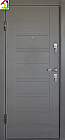 Дверь входная Министерство дверей металл/МДФ ПБ-206 Венге серый, двери бронированные, для дома