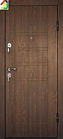 Дверь входная Министерство дверей металл/МДФ ПБ-206 Дуб темный, двери бронированные, для дома