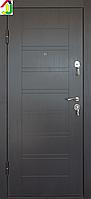 Дверь входная Министерство дверей металл/МДФ ПО-206 Венге темный горизонт, двери бронированные, для дома