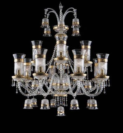 Светильник золотистый хрустальный с колокольчиками, фото 2