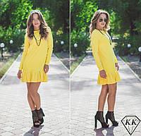 Желтое платье 15515