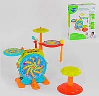 Детская барабанная установка Hola 666 (6) свет/звук/озвучка на английском языке (LI00487)