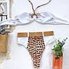 Купальник бандо с высокими плавками и кольцом леопард, фото 2