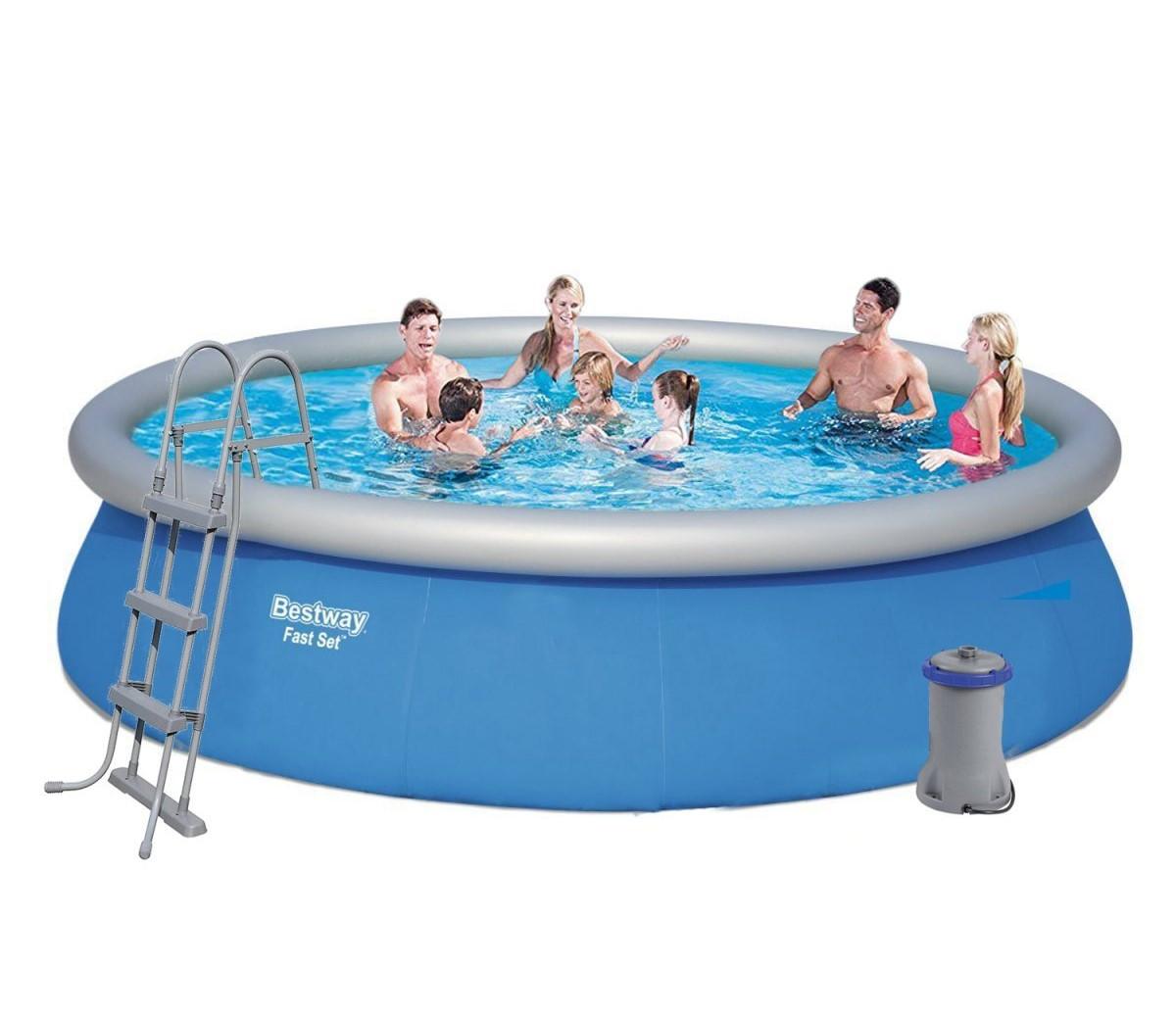 Семейный надувной бассейн Bestway  457 х 107 см  (57294)