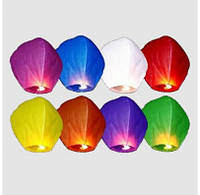 Небесные фонарики(упаковка 10шт) Зеленый