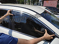 Ветровики с хромом, дефлекторы окон Nissan X-Trail/Nissan Rogue (T-32) 2014-