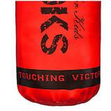 🔥 Дитячий боксерський мішок V'Noks Gel Red 12-15 кг 85 см червоний + ланцюга у подарунок!🎁, фото 4