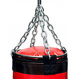 🔥 Дитячий боксерський мішок V'Noks Gel Red 12-15 кг 85 см червоний + ланцюга у подарунок!🎁, фото 5