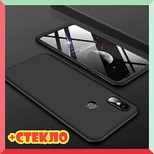 3D Чехол бампер 360° Xiaomi Mi 8 противоударный + СТЕКЛО В ПОДАРОК. Чохол сяоми ми 8
