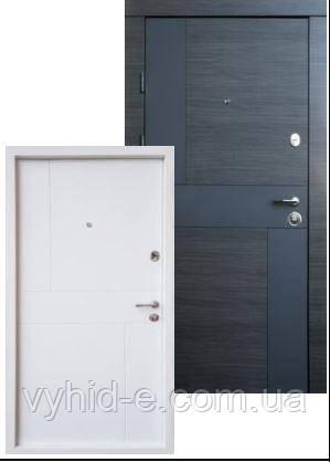 Двери входные QDoors. Премиум Стиль-М (двухцветный короб)