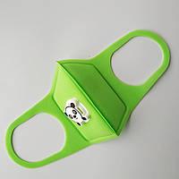Многоразовый детский респиратор с клапаном Jellys Зеленый (hub_WQVD87435)