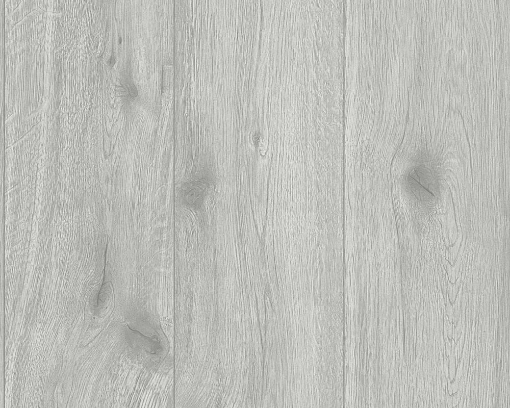 Моющиеся виниловые обои, светло серого цвета под натуральное дерево, доски, ламинат 300433